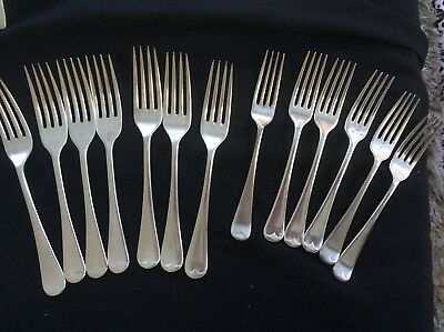 Forks  X 12 Grosvenor And Dixon -6 Entree And 6 Dinner Silverplate Vg Cond.