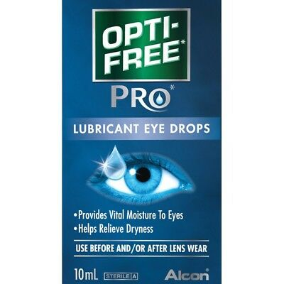 Optifree Pro Lubricating Eye Drops 10Ml NEW Cincotta Chemist