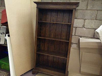 Stunning Quality Oak Open Bookcase Antique Style