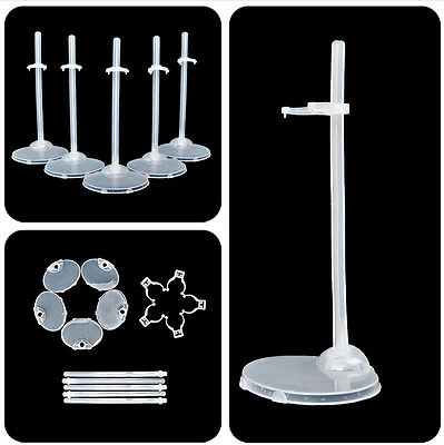 5 Pcs Doll Stand Display Holder Lot Plastic For Barbie Dolls Accessories Hot
