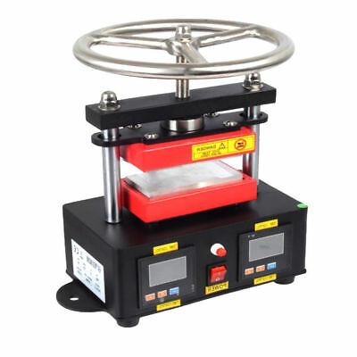 "110V 2000+ Psi 2.4""x4.7"" Rosin Press Hand Crank Duel Heated Plates Machine"