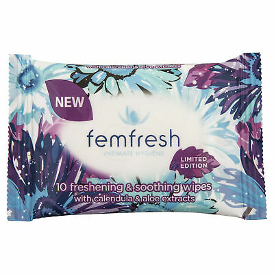 Femfresh Pocket Wipes 10Pack NEW Cincotta Chemist