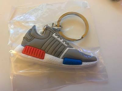 Adidas NMD Keychain Grey Boost Black Sneaker Key chain Shoes USA SELLER