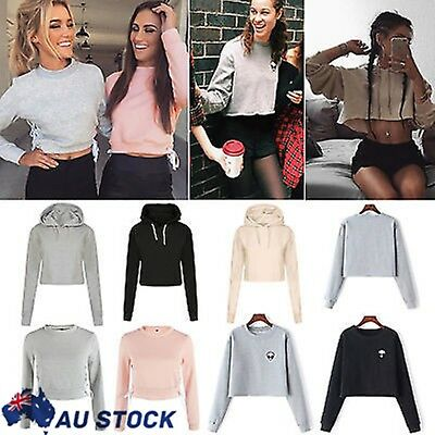 Women Long Sleeve Hoodie Sweatshirt Jumper Sweater Tops Sport Tracksuit Pullover