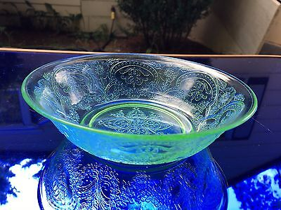 "Horseshoe No. 612 Green Depression Glass 6.5"" Cereal Bowl Indiana Glass Co GREAT"