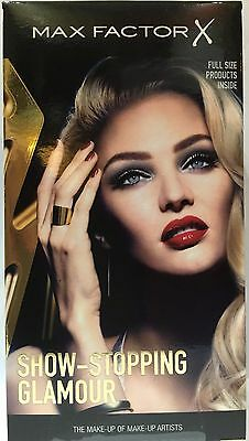 Max Factor X Show-Stopping Glamour Gift Set 4 Full Size Products Brand New