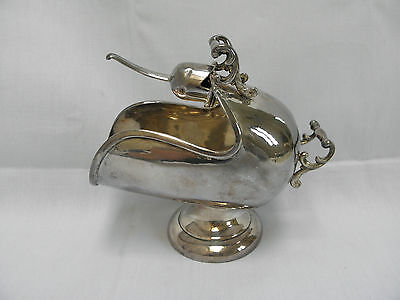 Vintage Scuttle Sugar Bowl with Scoop