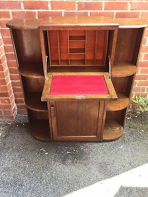 vintage wooden bureau/bookcase/desk