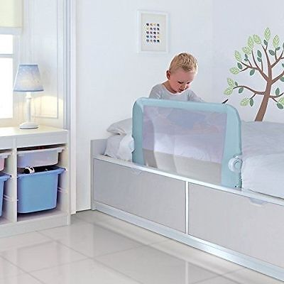 Lindam Easy Fit Bed Guard (Blue) TOODLER BOYS KIDS SAFETY SLEEP BEDROOM