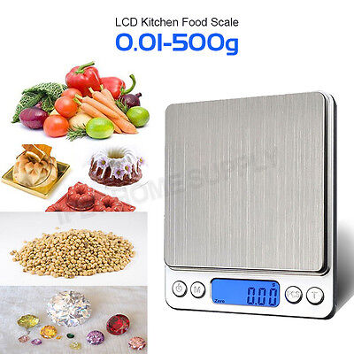 0.01-500g Kitchen Food Scale Digital LCD Electronic Weight Postal OZ