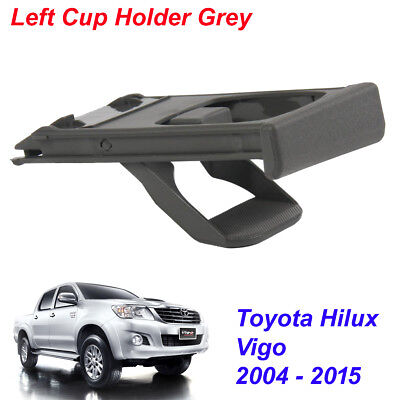 Left Cup Holder Grey 1 Pc For Toyota Hilux Vigo Pickup Truck 2004 - 2015