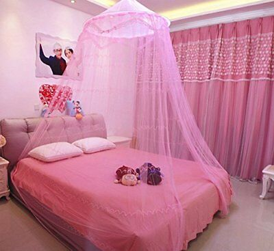 Round Hoop Decorative Lace Princess Bed Canopy Mosquito Net Fit For Crib Twin Be