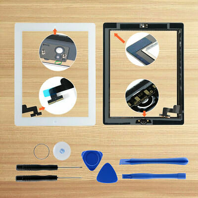 Black/White Front Touch Screen Digitizer Replacement for iPad 2/3/4/5/air/air 2