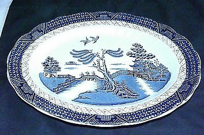 Booths A8025 Real Old Willow Oval Plate 35.5 x 28 Cm 1st