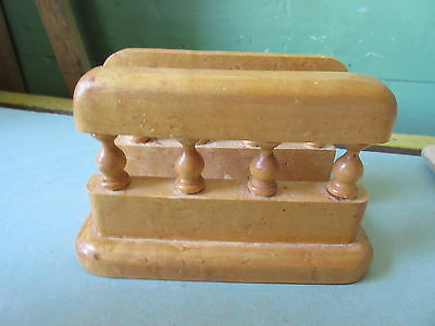 Old Vintage Birdseye Maple Tabletop Napkin Holder