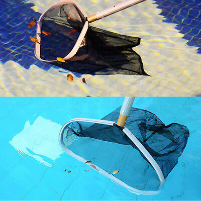 "Heavy Duty Swimming Pool Leaf Rake Skimmer + HD Mesh Net & 18"" Aluminum Frame"