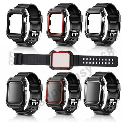 Replacement Silicone Sports Strap For Apple Watch Band Series1 2 3 38mm/42mm