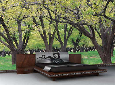 Forest Tree Green Grass Full Wall Mural Photo Wallpaper Print 3D Decor Kids Home
