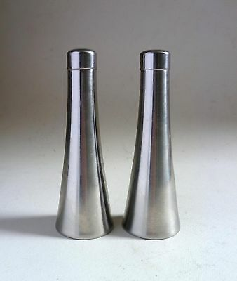 OLD HALL Vintage 'Lighthouse' SALT & PEPPER POTS Robert Welch Stainless Steel