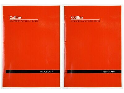 """Collins A24 A4 Series Analysis Book Treble Cash - 10203  """"2 Pack"""""""