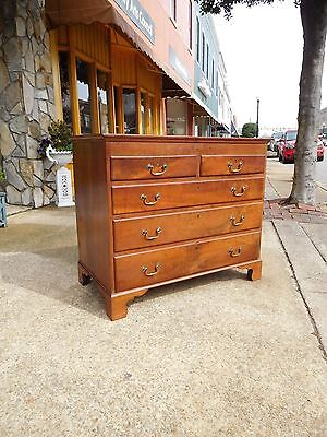 Outstanding Chippendale Cherry Two Over Three Drawer Chest 18th Century