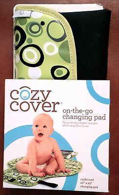 "Cozy Cover on-the-go Cushioned Changing Pad with Pockets 20""x 23"" Black/Green"