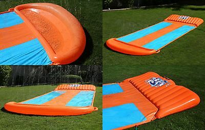 Inflatable Water Triple Slip N Slide Toy Bounce Outdoor Yard Slider Fun Summer