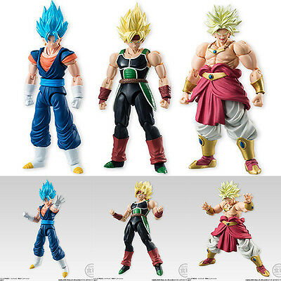 Shodo Dragon Ball Vol 05 SSGSS Vegetto, SS Bardock, and Broly Set of 3 Figures