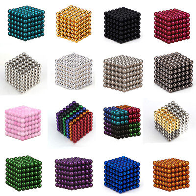 Fun 3/5mm 216pcs Neodymium Sphere Balls Magic Cube 3D Puzzle Ball Fidget Stress