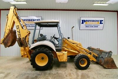 "New Holland 575E 4Wd Backhoe Loader Extendahoe, 17'9"" Dig Depth, 98 Hp!"