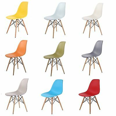 Eames inspired Eiffel Retro Plastic Dining Office Lounge Chair