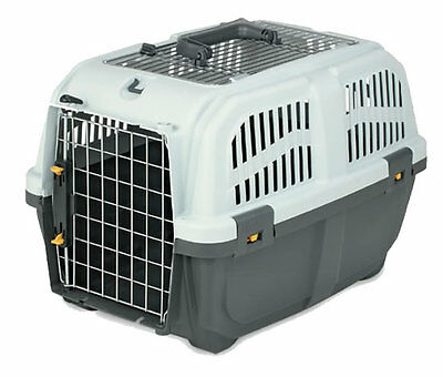 Skudo Open Top Pet Transport Carrier Box for Cats Dogs Small Animals (Large)