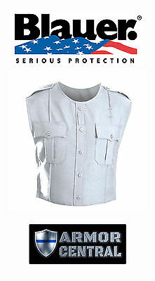 New Blauer White Polyester ArmorSkin Vest Outer Carrier Uniform Cover 8370