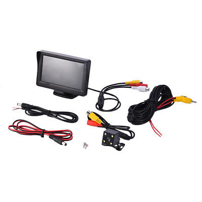 "4.3"" TFT LCD Car Rear View System Monitor+Night Vision Backup Reverse Camera Kit"