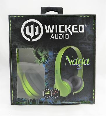 Wicked Audio Naga High Fidelity Stereo Headphones- WI-401 GREEN