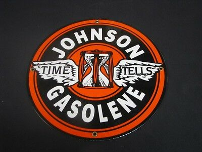 Johnson Gasolene Porcelain Sign