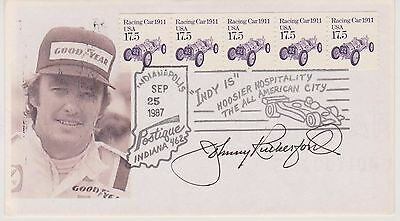 Signed Johnny Rutherford Fdc Autographed First Day Cover Indy 500