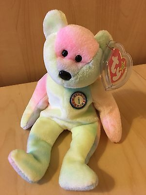 Pre-Owned Original TY Beanie Babies B.B.BEAR Birthday Bear Excellent with Tag