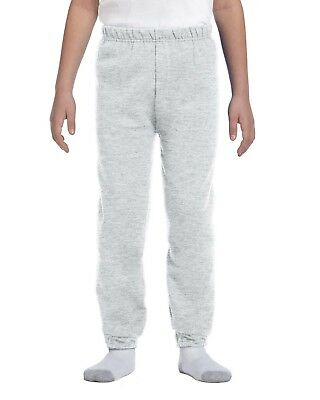 NEW Jerzees Sweat Pants Youth 8 oz NuBlend 50/50 973B Grey & More Size/Colors