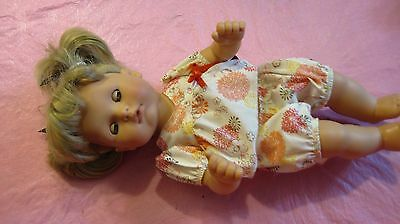 "14"" GOTZ PUPPE ANATOMICALLY CORRECT GIRL DOLL  ASH- BLONDE HAIR Original Clothes"
