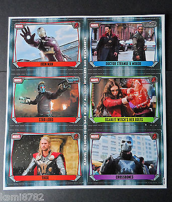 TOPPS MARVEL MISSIONS PROMO SHEET version 2