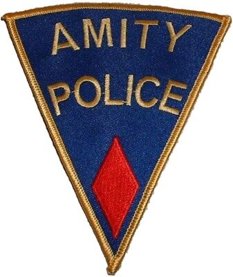 JAWS Movie AMITY POLICE Shoulder Logo Red Patch