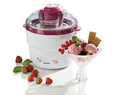 Ice-Cream, Sorbet & Frozen Yoghurt Maker Silvercrest White / Fuchsia, New