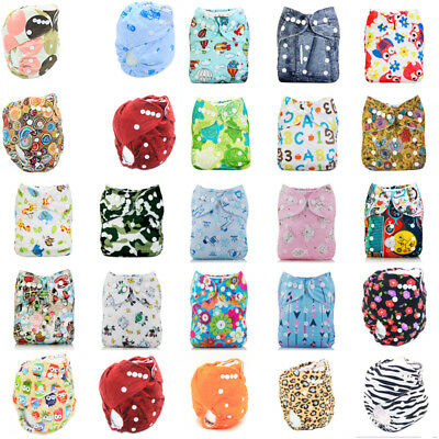 Washable Adjustable Baby Pocket Nappy Modern Cloth Reusable Diaper Cover Wrap