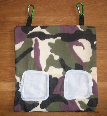 Guinea Pig,rabbit ,small Animal Fabric Hay Bag ,feeder, Holder Camoflage