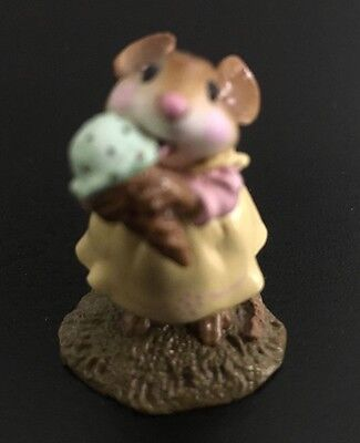 Wee Forest Folk - WFF M-277 Yummy (yellow dress, mint chip) Retired with box!