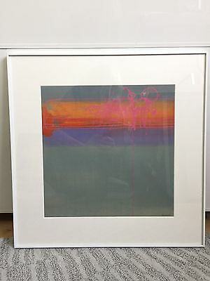 Beautiful Original Abstract Vintage 60s Framed Print Poster
