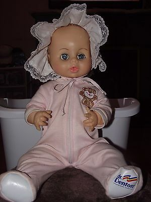 "VINTAGE 1975/76 HORSMAN 17"" VINYL BABY DOLL DRINK & WET  BABY Poseable arms legs"