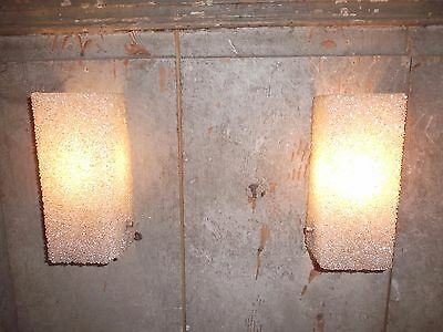 French a pair of retro chic vintage c.1960 wall light  nice designed