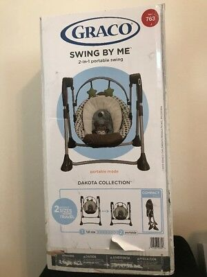 Graco Swing By Me 2 In 1 Portable Baby Swing Dakota Collection Brand New!